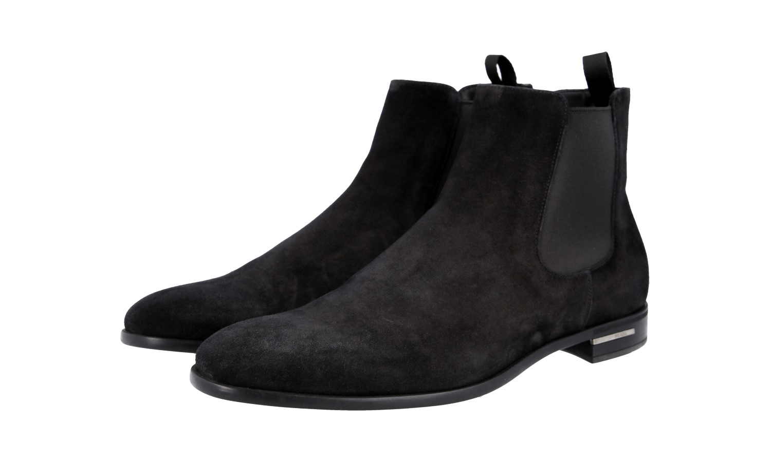 39 Luxury Original Prada Ankle Suede 5 New Show 5 Title Boot Details About 5 40 Shoes 2tc028 Black tshQrdC