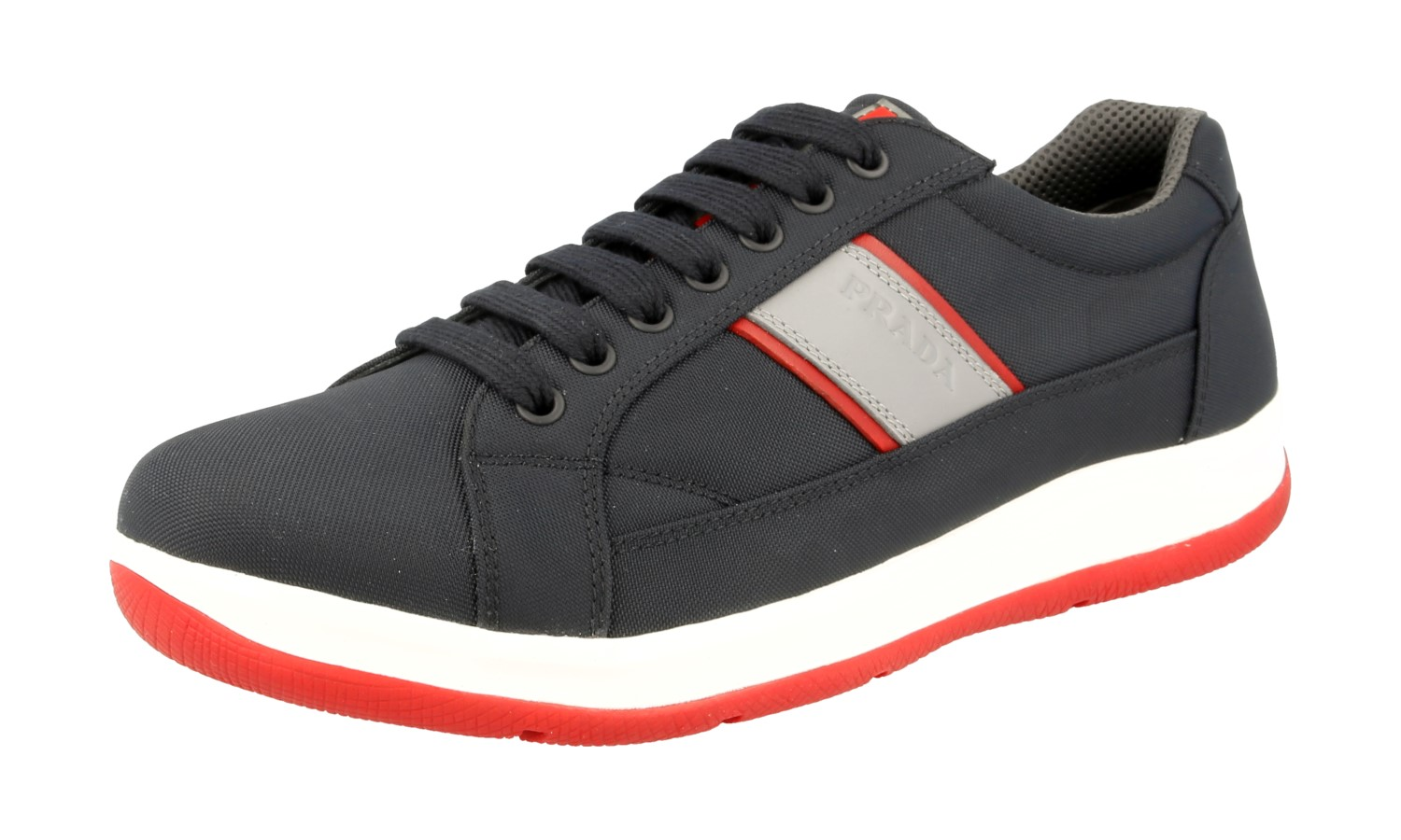 caff97aa3cef Details about AUTHENTIC LUXURY PRADA SNEAKERS SHOES 4E2987 BLUE RED NEW US  9 EU 42 42