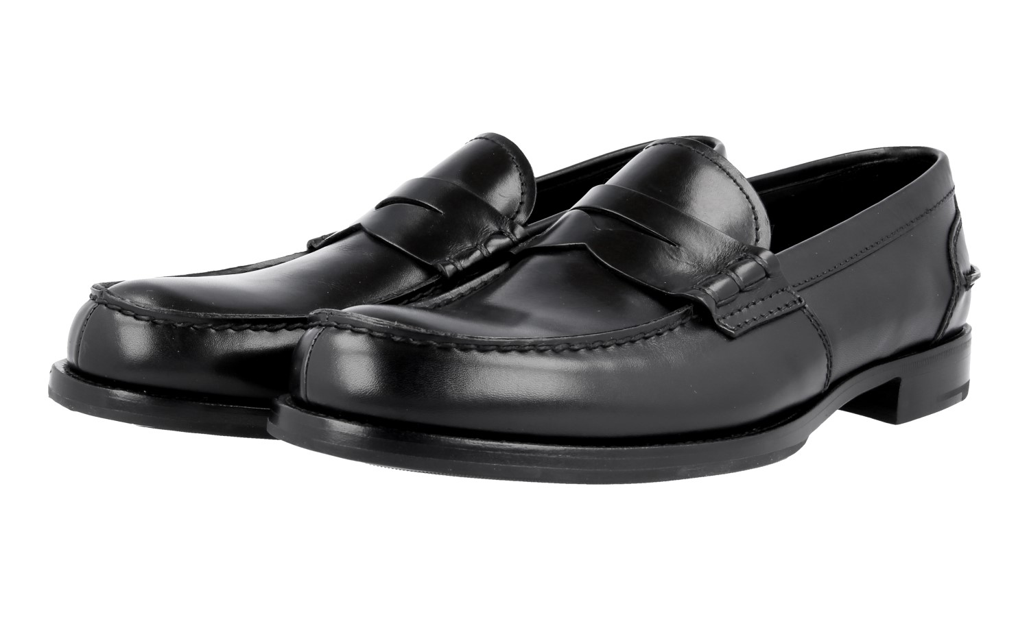 0374ef0d0edf Details about AUTH LUXURY MIU MIU PENNY LOAFER SHOES DNC089 BLACK NEW US 8  EU 41 41